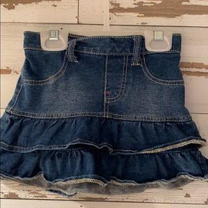 1989 PLACE ruffle stretchy jean skirt size 3T!